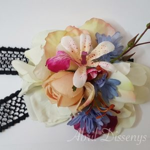 Gargantilla flor artificial Eva