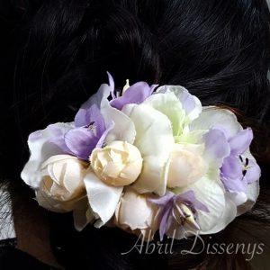Pasador flor artificial Violet