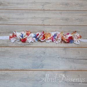 Cintura flores artificiales 46x6