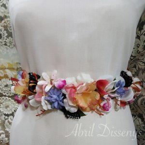 Cintura flores artificiales noches 55x6