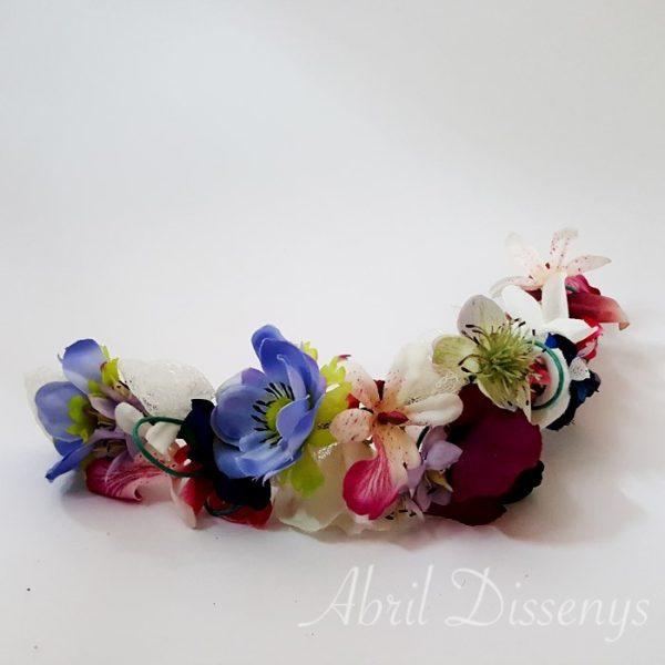 Corona flores y encaje de chantilly 30 x 8