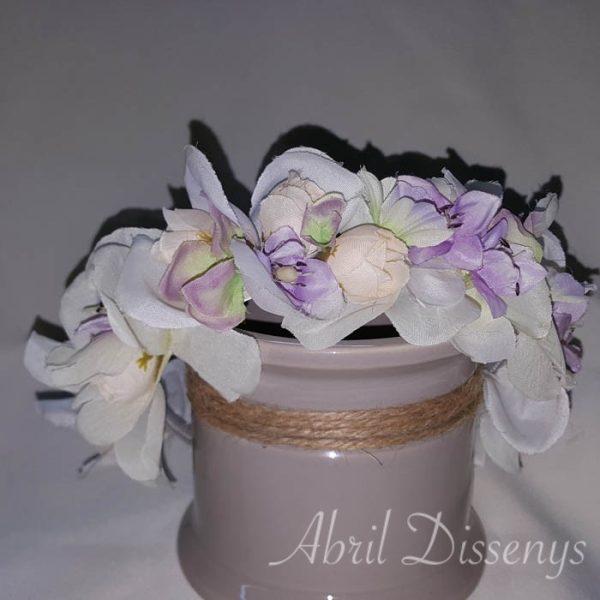 Diadema flores artificiales Violet