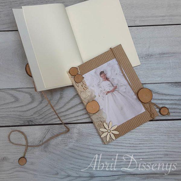 Porta fotos y libro de firmas personalizado