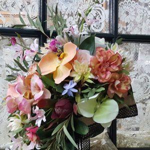 Ramo novia redondo flor artificial