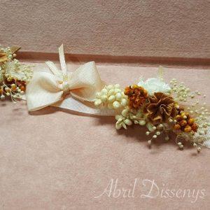 Cinta flor claveles a tu medida marrón