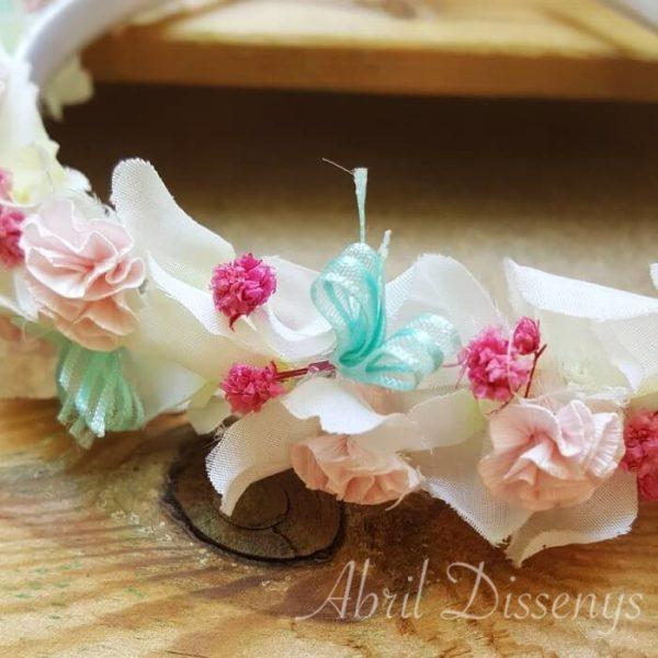 Diadema flores paniculata y claveles
