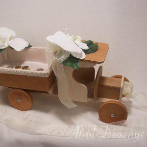 Camión porta arras orquídeas