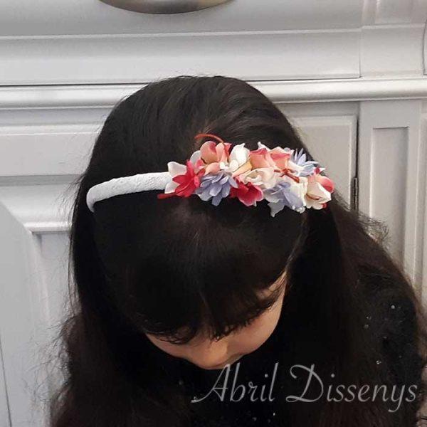 Diadema de Flor Lateral muy colorista colección Eva