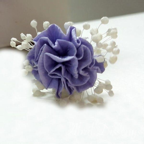 Pinpelo flor 7 unid Clavel papel
