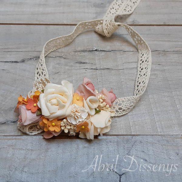 Cintura floral novia