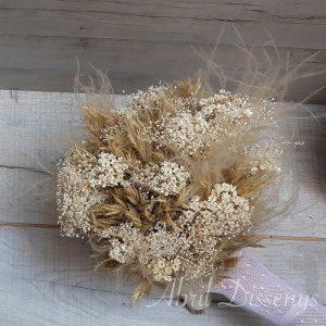 Ramo novia flor seca blanco y cava