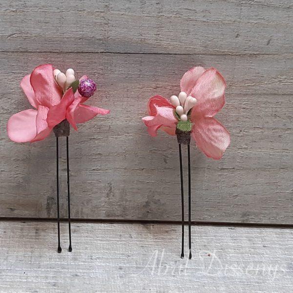Horquilla flor de loto rosa