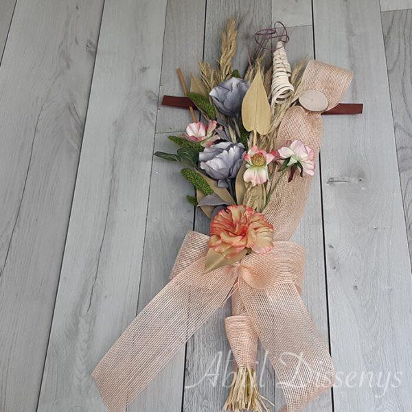 Ramo grande de flor seca y artificial