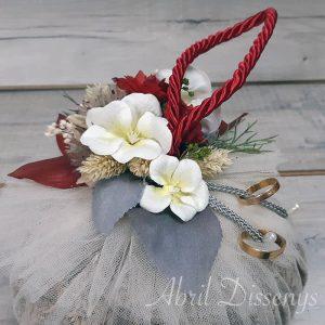 Bola porta alianzas flor lavanda
