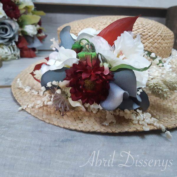 Canotier flor preservada