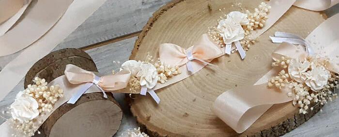 Set de flores para la cintura y pelo