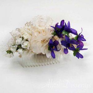 Peinetas Flores Pelo