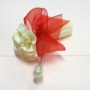Alfiler de boda hecho a mano con lazos en todos los colores