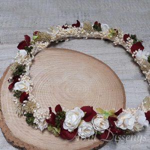 Corona flor seca cerezas