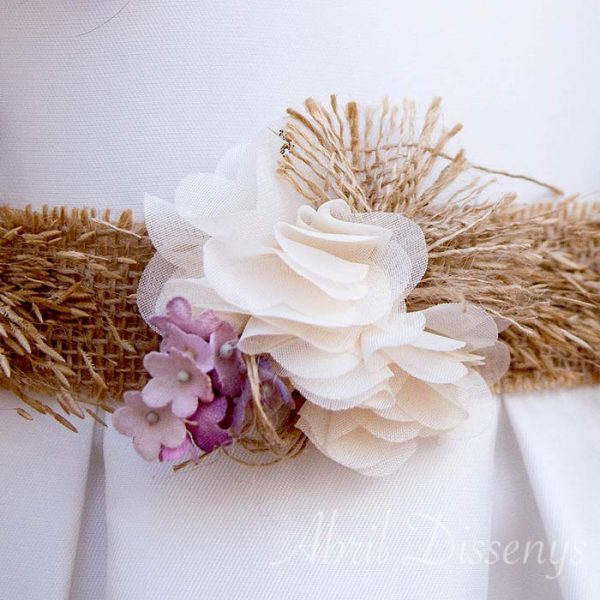 Cinturón de flores Hanae