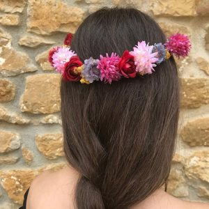 Corona de flores de estilo rústico
