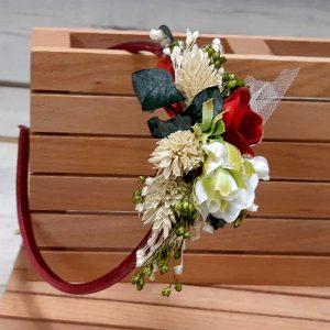Diadema con flores en el lateral colección cerezas