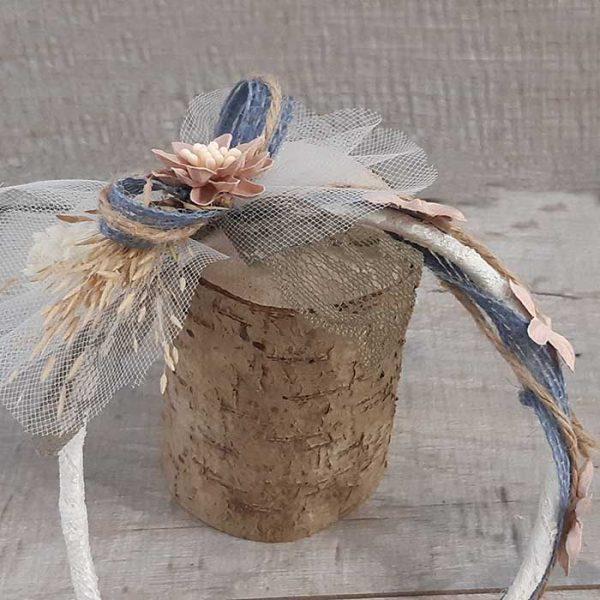 Diadema con flor lateral Ona