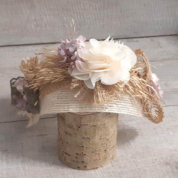Diadema con Turbante de Flores Hanae