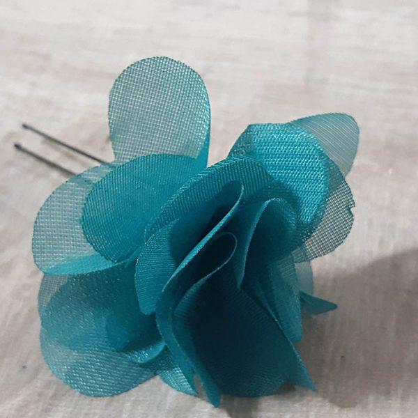 Horquilla Flor Turquesa Laura