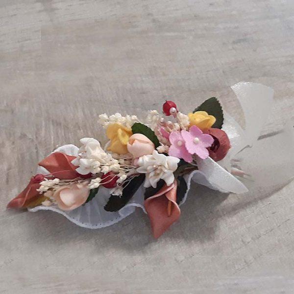 Peineta mediana con flores Alba