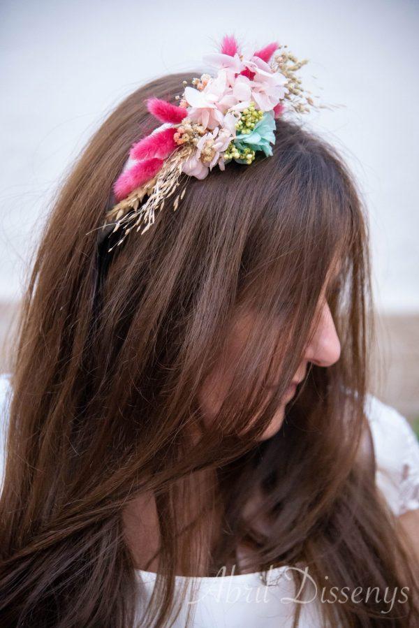 Tiara de Flor Preservada Ellen