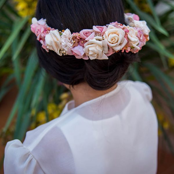 Tocado de flores de estilo boho colección arlet