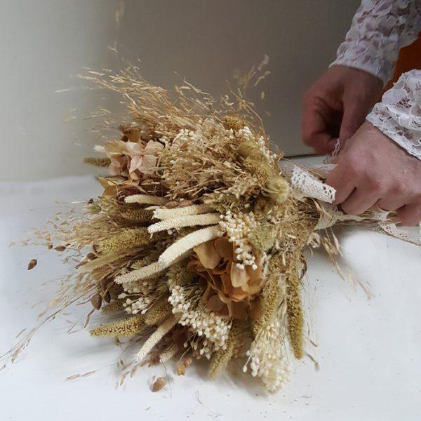 Ramo de Flores secas para dividir en dos despues de la boda