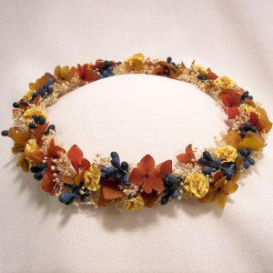 Corona Flores Hortensia y Pistilos