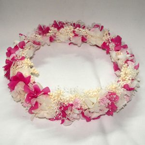 Corona de Flor Preservada Bicolor