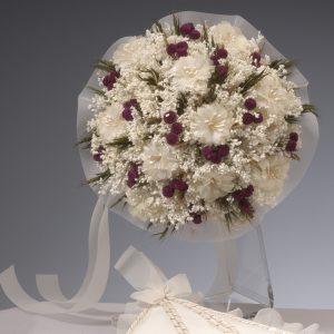 Ramo de Novia flor seca y de Organza