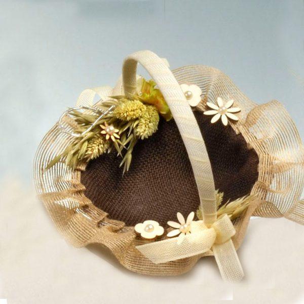 Cesta para las arras chocolate