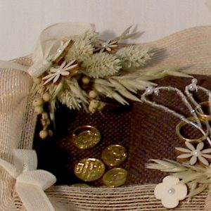 Bandeja combinada para arras y anillos