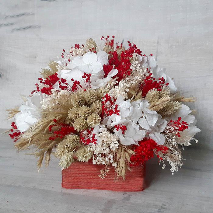 Centro de flores secas para la mesa o para decorar el hogar, como regalo es genial