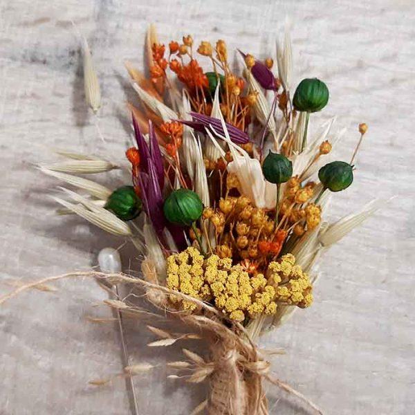 Botón de Flores Secas Campo Lino