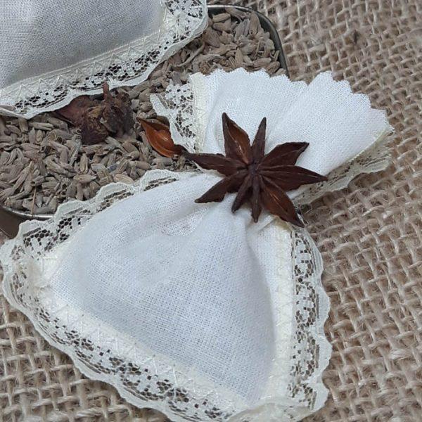 Bolsa con flor lavanda