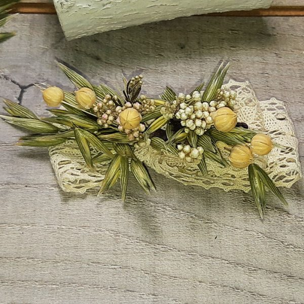 Adornos Flor Natural para Pelo