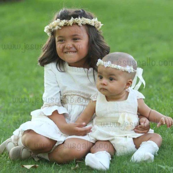 Corona Niña Flor Edelweiss