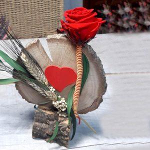 Rodaja de Madera con Rosa Sant Jordi