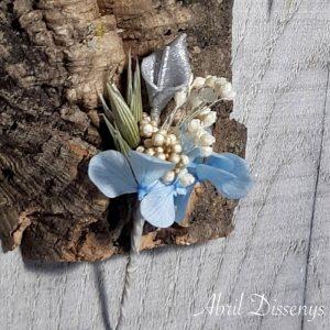 Flores Azul y Plata para el Pelo