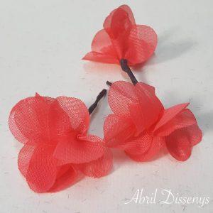 Flores Pequeñas Pelo Hortensia de Gasa Coral