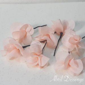 Flores Pequeñas Pelo Hortensia Salmón de Gasa