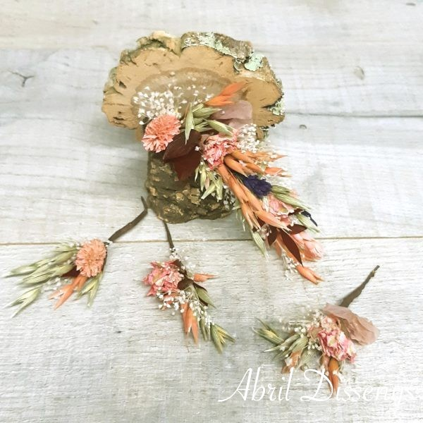 Set Flores Pelo Rosa y Lavanda