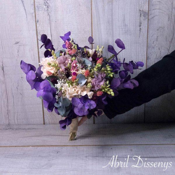 Ramo de Flor Preservada Lilas Med