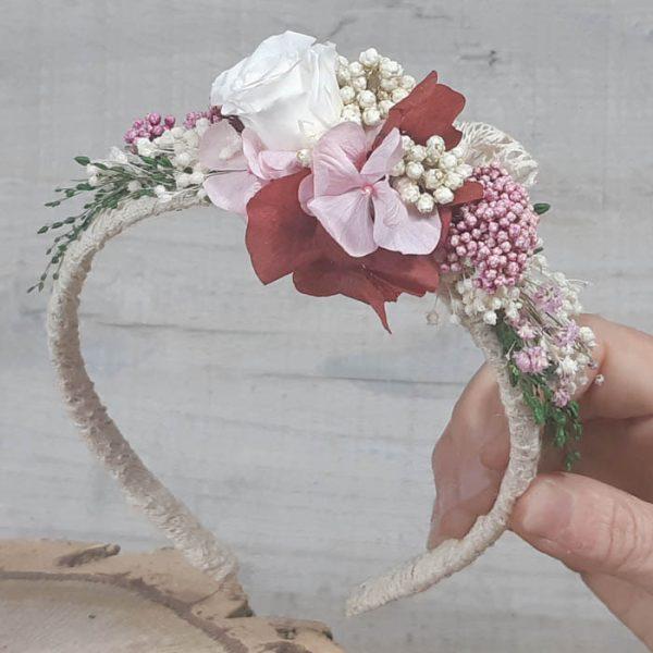 Diadema con Flor Lateral Colores